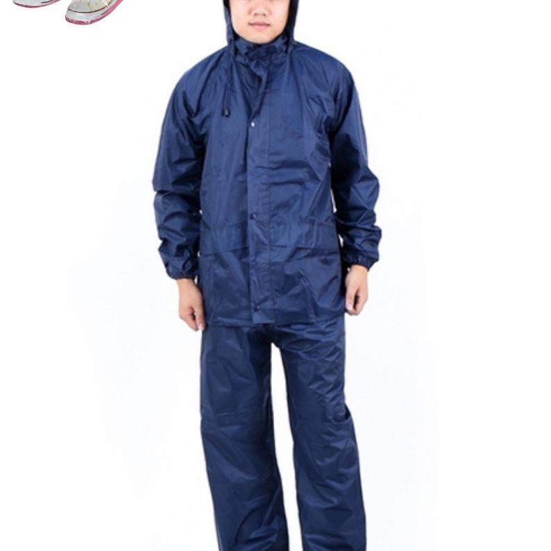 Áo mưa bộ vải dù cao cấp - tặng áo mưa bảo vệ giày
