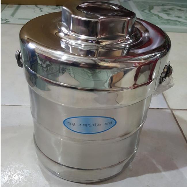 Cặp lồng inox 1,4l hàn quốc 3 ngăn chứa đồ ( bạc)