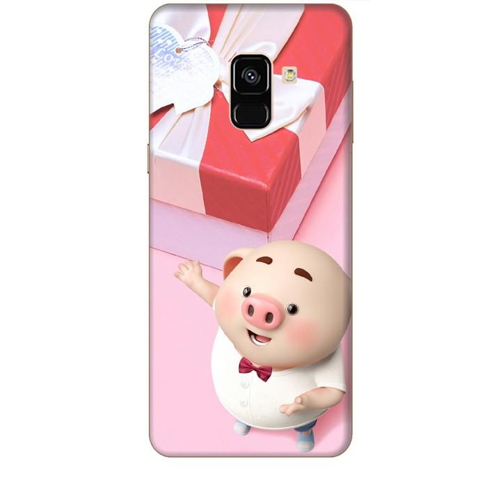Ốp lưng dành cho điện thoại  SAMSUNG GALAXY A8 2018 Heo Con Đòi Quà