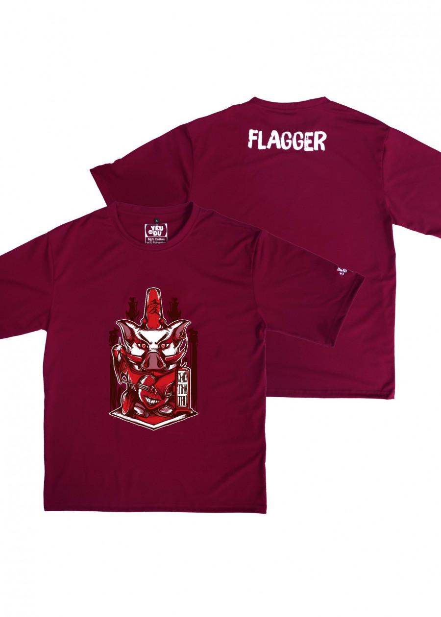 Áo tee Flagger chiêu tình trư - size XL