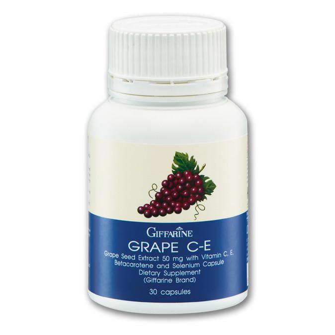 Thực phẩm chức năng bảo vệ sức khỏe chống lão hóa da, giúp trẻ trung Grape C-E (Lọ 30 viên)
