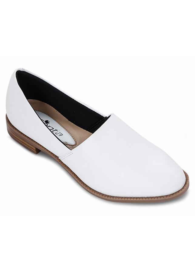 Giày Mọi Da Nữ - Trắng