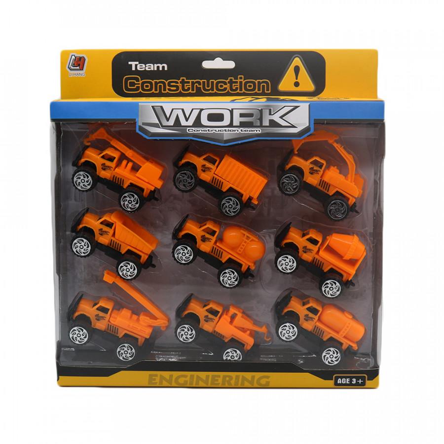Đồ chơi trẻ em 09 xe mô hình xây dựng