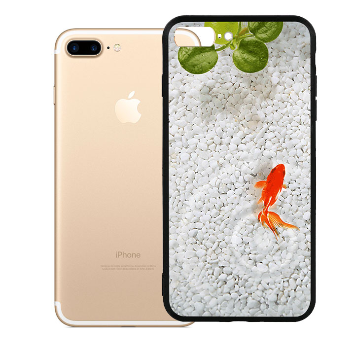 Ốp lưng viền TPU cao cấp dành cho iPhone 7 Plus - Cá Koi 01