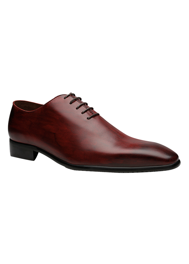 Giày Tây Thủ Công Cao Cấp Shoex Saturn Oxford Whole - Cut Da Ý Nhập Khẩu - Red