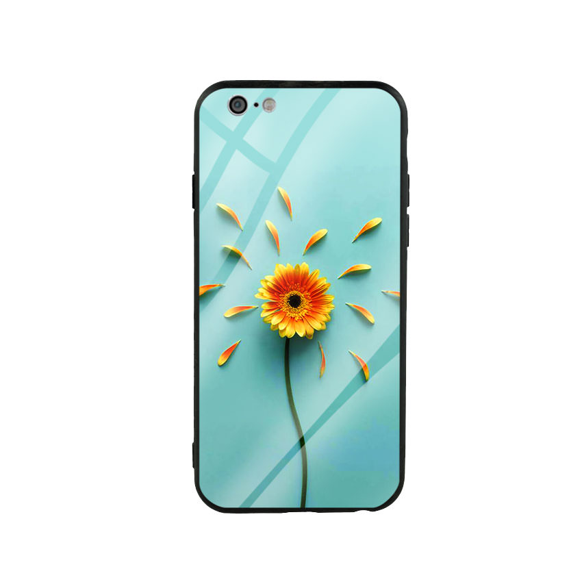 Ốp lưng kính cường lực cho điện thoại Iphone 6/6s - Sun Flower 02
