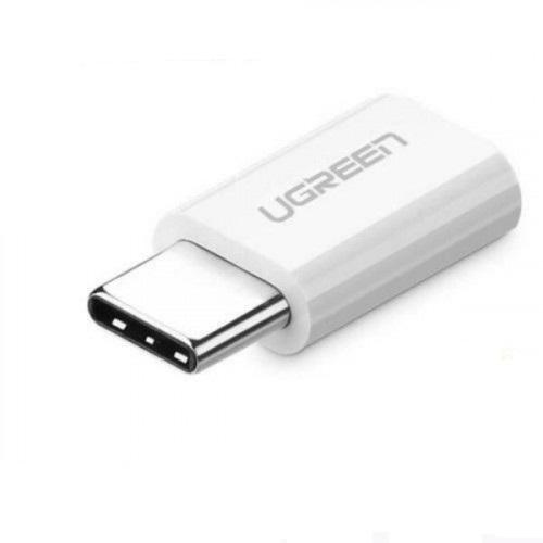 Đầu chuyển USB-C dương ra Micro USB âm UGREEN 30864 (màu trắng) hàng chính hãng