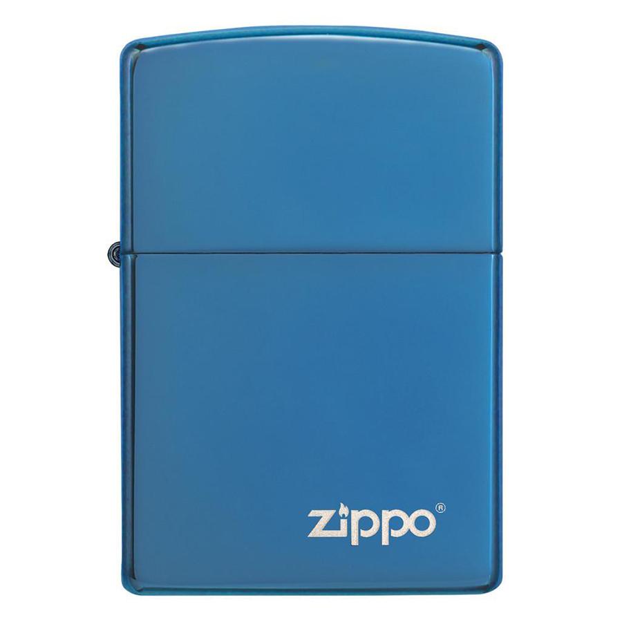 Bật Lửa Zippo Ngọc Saphire Với Logo