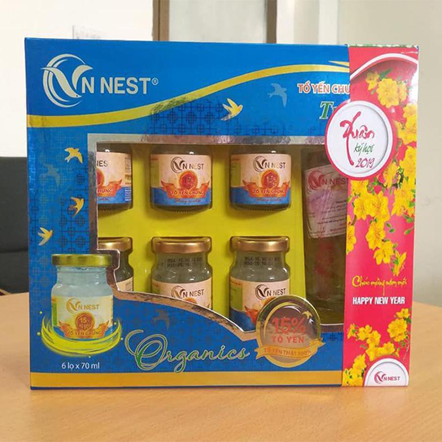 Tổ yến chưng hương tự nhiên VNNest 15% (Set 6 hũ)