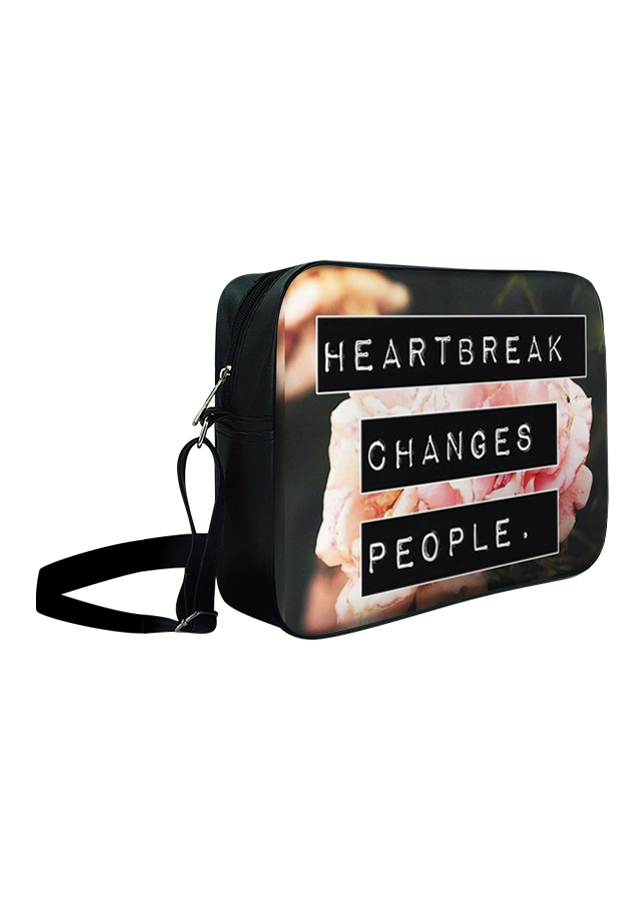 Túi Đeo Chéo Hộp Unisex Heartbreak Changes People - TCHO025