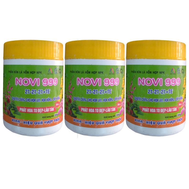 Bộ 3 hủ phân bón dưỡng cây tốt lá nhiều hoa Kina Novi 999 (3 hủ x 100g) - 1594317 , 6846537003305 , 62_10684892 , 90000 , Bo-3-hu-phan-bon-duong-cay-tot-la-nhieu-hoa-Kina-Novi-999-3-hu-x-100g-62_10684892 , tiki.vn , Bộ 3 hủ phân bón dưỡng cây tốt lá nhiều hoa Kina Novi 999 (3 hủ x 100g)