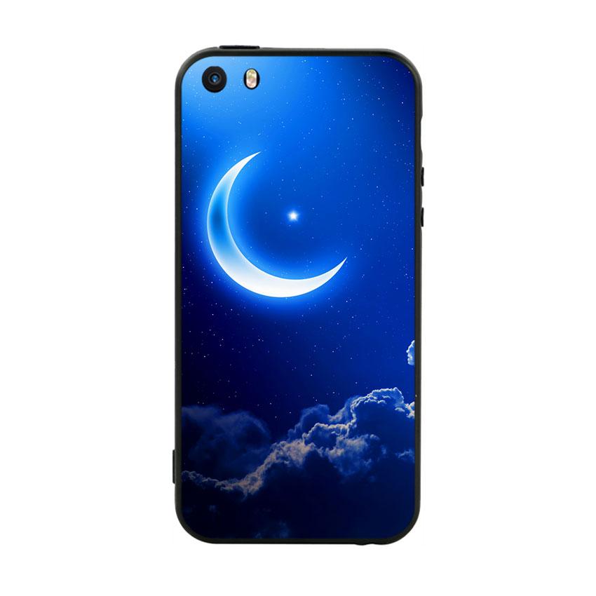 Ốp Lưng Viền TPU Cao Cấp Dành Cho iPhone 5 / 5s - Moon 01