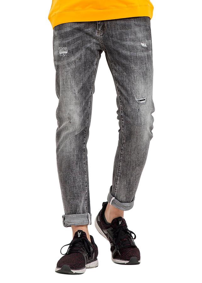 Quần Jeans Nam Comfort Fit Rách Nhẹ 8003