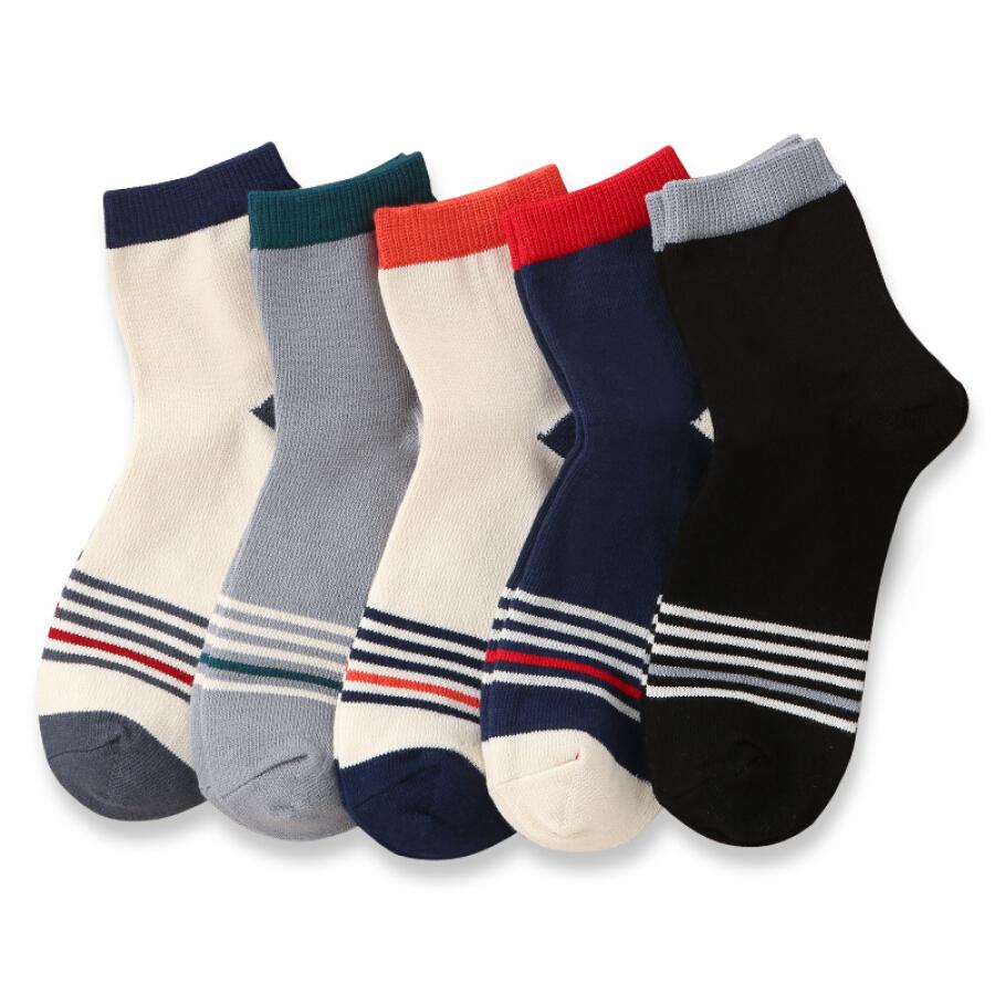 Nanjiren 5 double striped tube socks men