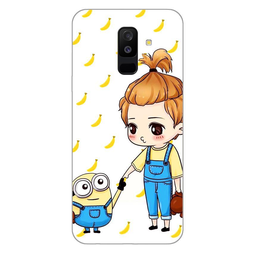 Ốp lưng dẻo cho Samsung Galaxy A6 Plus 2018_Minion 04