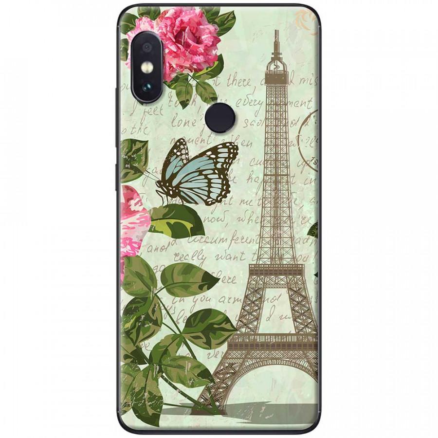 Ốp lưng dành cho Xiaomi Redmi Note 7 mẫu Tháp Effiel con bướm