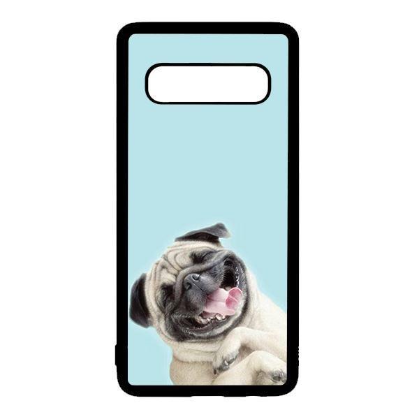 Ốp lưng điện thoại dành cho Samsung S10 Plus Pulldog Smile Nền Xanh