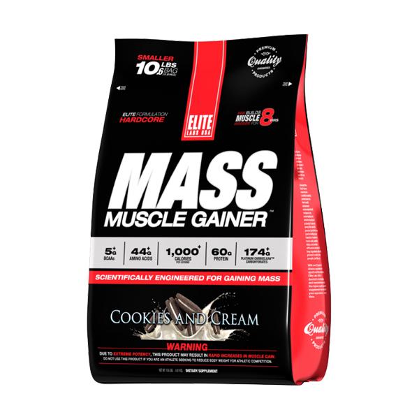 Sữa Tăng Cân Vị Bánh Cookie Elite Labs Mass Muscle Gainer Banana SMEL936 (4.6kg)