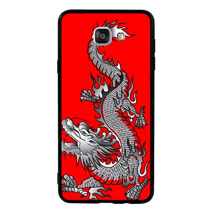 Ốp lưng viền TPU cao cấp cho Samsung Galaxy A9/A9 Pro  - Dragon 04