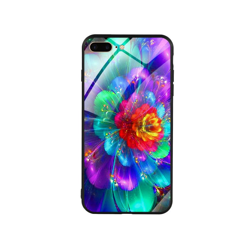 Ốp Lưng Kính Cường Lực Cho Điện Thoại Iphone 7 Plus / 8 Plus - Flower 14