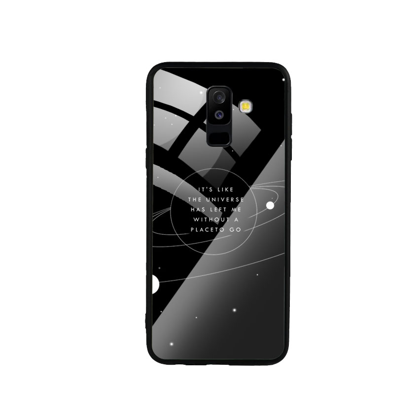 Ốp Lưng Kính Cường Lực cho điện thoại Samsung Galaxy A6 Plus 2018 - Alone 02