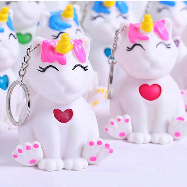 Móc Khóa Mèo Kỳ Lân Silicon (Màu Ngẫu Nhiên)
