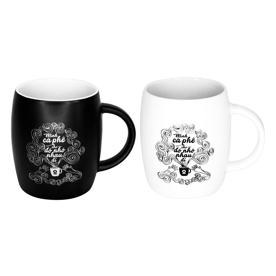 Combo 2 Ly Sứ Cà Phê The Coffee House (530ml / Ly) - Đen Và Trắng