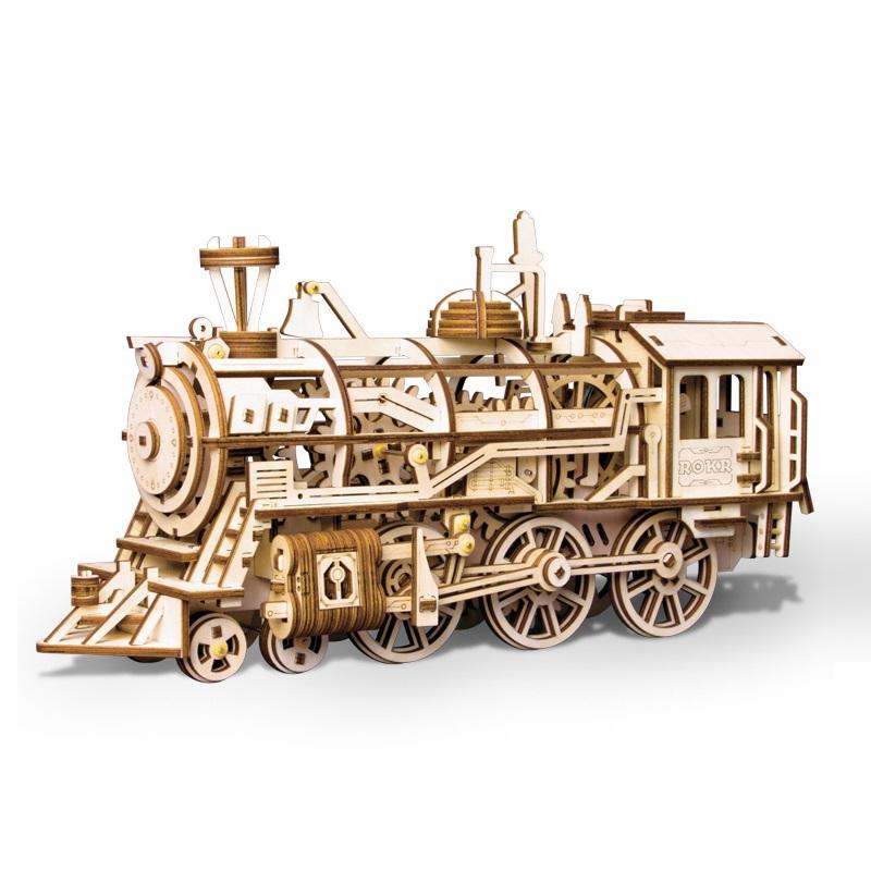 Mô hình Cơ động học Đầu Máy Xe Lửa - LK701 Locomotive Robotime