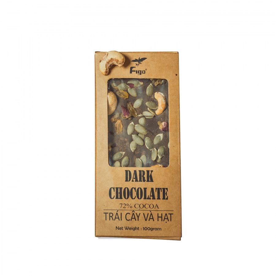 Socola đen 72% cacao Trái cây khô và các loại Hạt Figo 100gram - 777206 , 3822346319441 , 62_11328080 , 100000 , Socola-den-72Phan-Tram-cacao-Trai-cay-kho-va-cac-loai-Hat-Figo-100gram-62_11328080 , tiki.vn , Socola đen 72% cacao Trái cây khô và các loại Hạt Figo 100gram