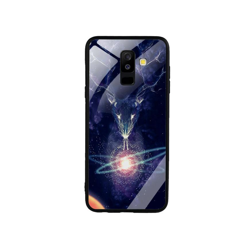 Ốp Lưng Kính Cường Lực cho điện thoại Samsung Galaxy A6 Plus 2018 - Deer 02