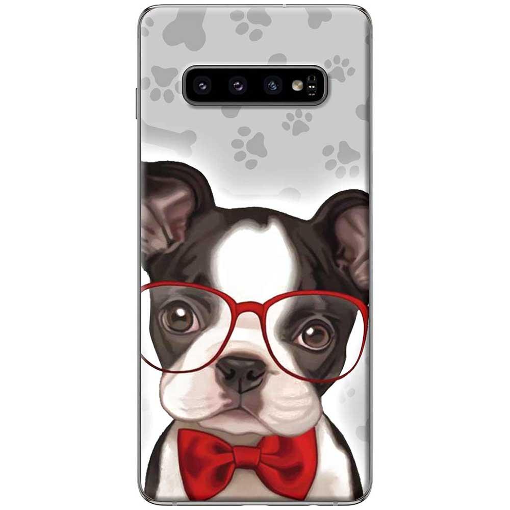 Ốp lưng  dành cho Samsung Galaxy S10 mẫu Chó mắt kiếng