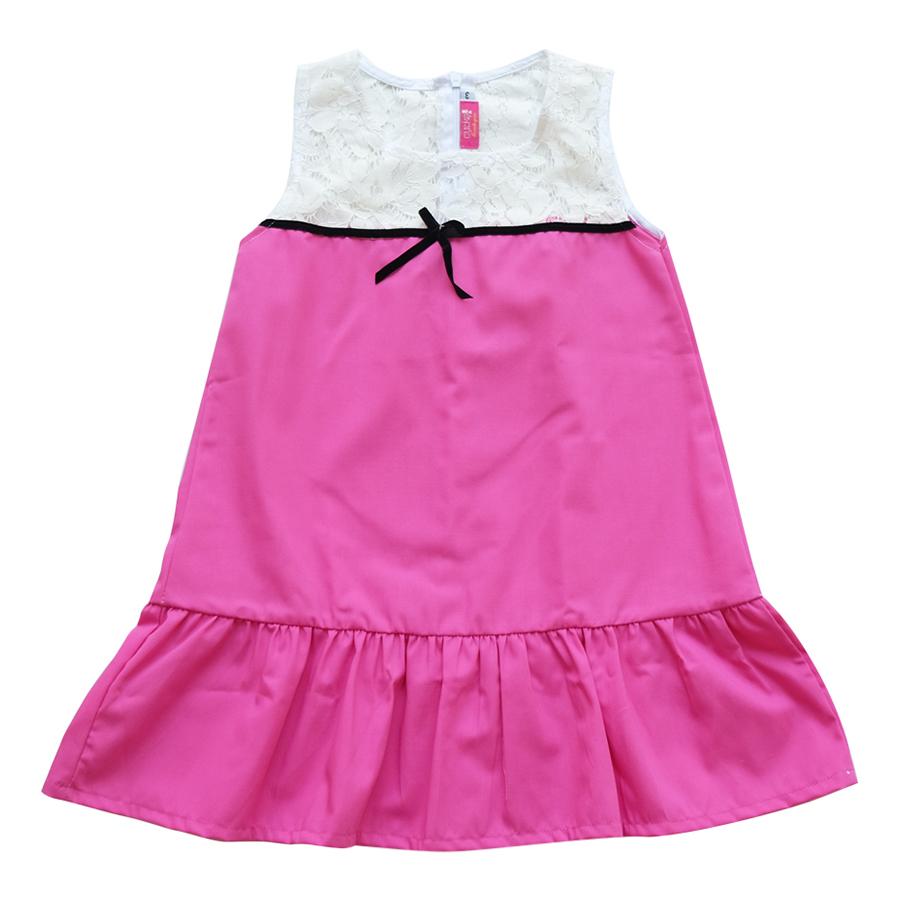 Đầm Bé Gái CucKeo Kids Sát Nách Đuôi Cá Đô Ren T101859 - Hồng Sen