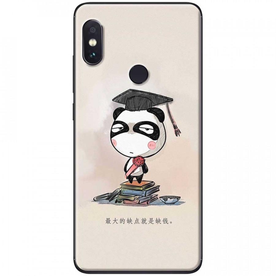 Ốp lưng dành cho Xiaomi Redmi Note 6 Pro mẫu Panda mọt sách