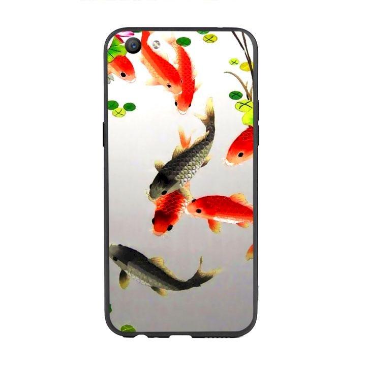 Ốp lưng viền TPU cho Oppo F3 - Fishes 03