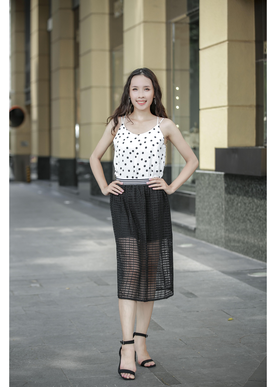 Chân váy ren dáng dài cạp chun WEMEET - 20006622