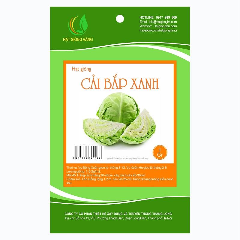 Combo 3 gói Hạt giống cải bắp xanh