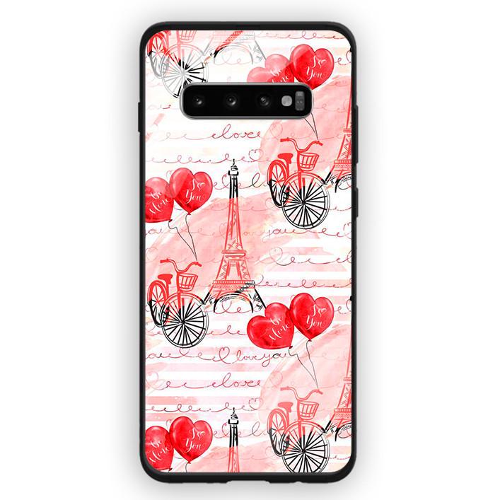 Ốp Lưng Kính Cường Lực Cho Điện Thoại Samsung Galaxy S10 Plus - 391 0039 PARIS05 - Hàng Chính Hãng