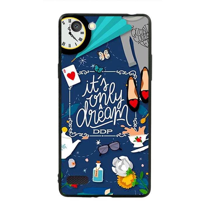 Ốp lưng viền TPU cho dành cho Oppo Neo 7 - Dream Girl 02