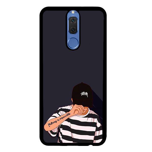 Ốp lưng dành cho điện thoại Huawei Nova 2i Bad Boy Nón Đen