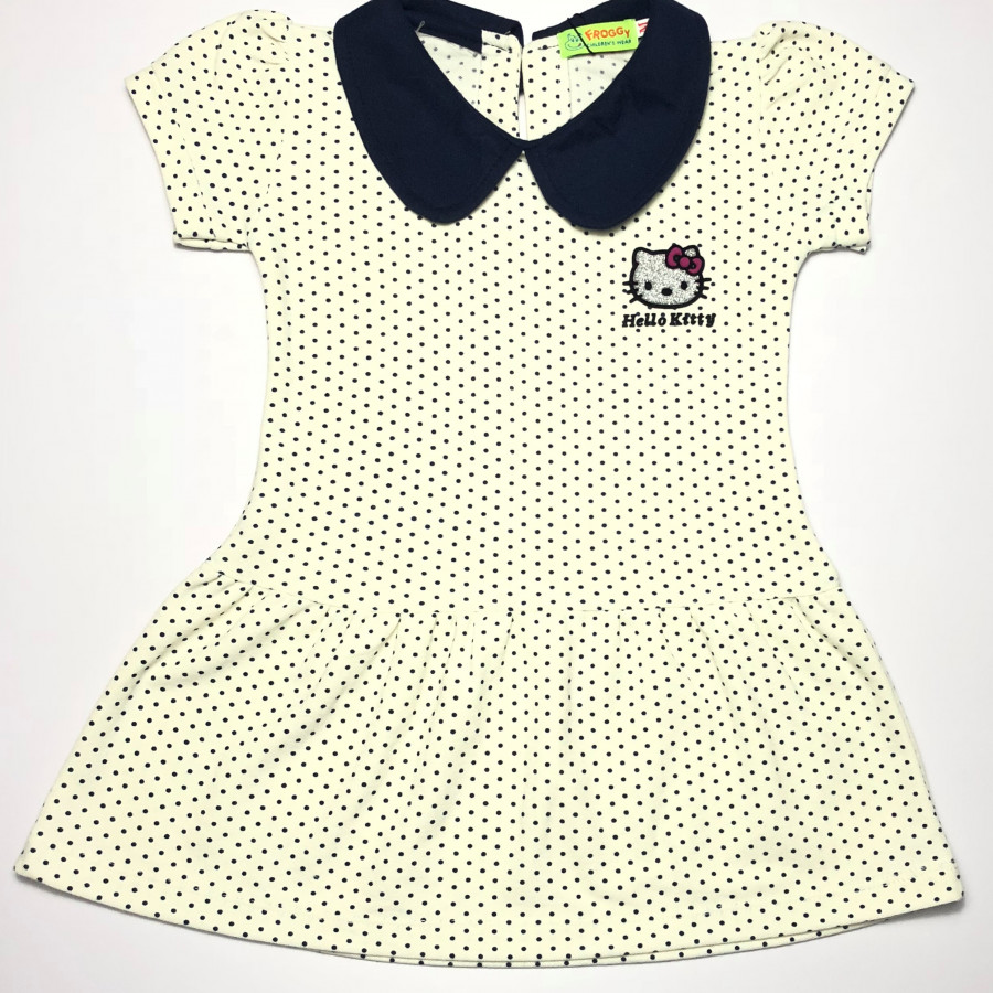 Đầm Hello Kitty Chấm bi trắng