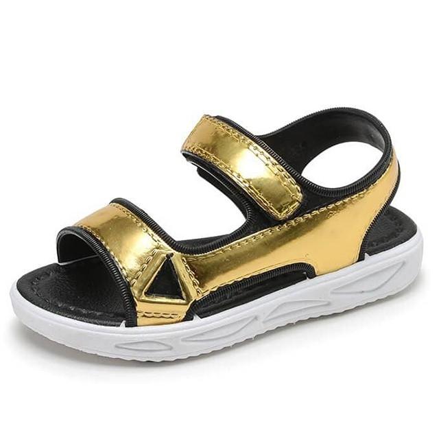 Giày Bé Gái Sandal Quai Dán Đế Mềm Êm B121