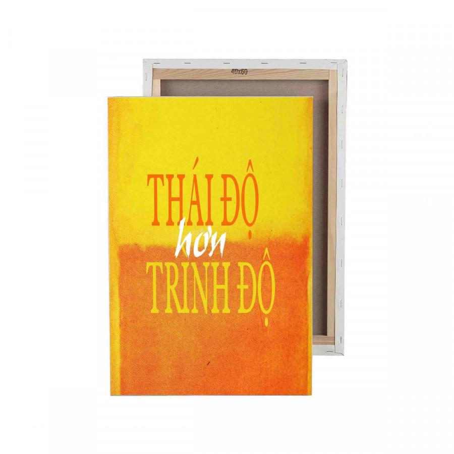 Tranh trang trí in Poster ( không khung ) Thái độ hơn trình độ - 7801493 , 9579935840469 , 62_16642354 , 435000 , Tranh-trang-tri-in-Poster-khong-khung-Thai-do-hon-trinh-do-62_16642354 , tiki.vn , Tranh trang trí in Poster ( không khung ) Thái độ hơn trình độ