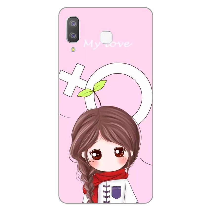 Ốp lưng dẻo cho Samsung Galaxy A8 Star_Couple Girl 06
