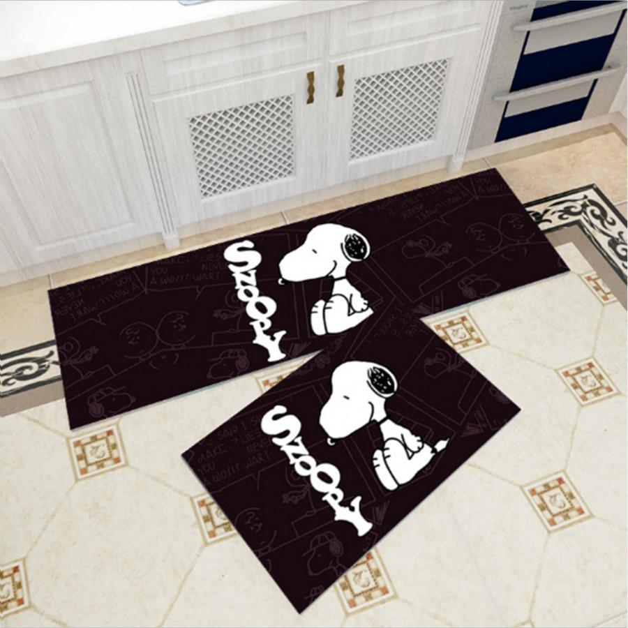 Bộ 2 thảm trang trí, thảm bếp cao cấp GOO27 (40x60 cm và 40x120 cm)