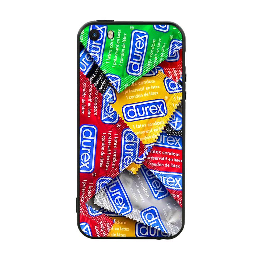 Ốp lưng nhựa cứng viền dẻo TPU Cho iPhone 5 / 5s - Durex