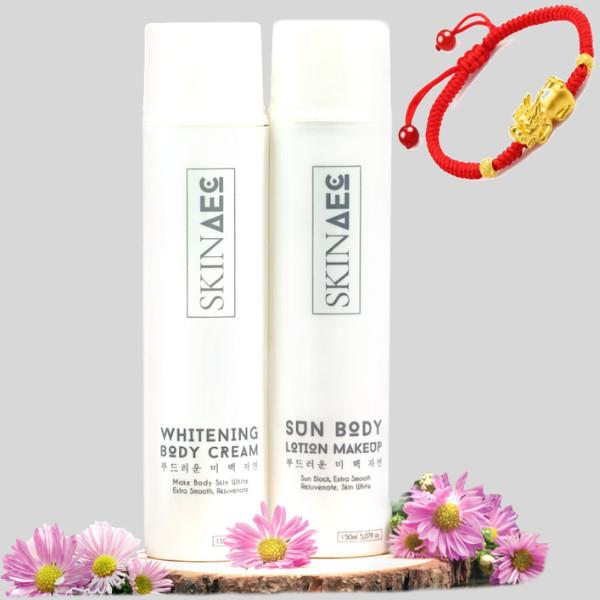 Combo Skin AEC Dưỡng Trắng Chuyên Sâu Sun Body Lotion Makeup(150ml) - Whitening Body Cream(150ml) + tặng kèm vòng tay Tỳ Hưu may... - 802058 , 7120370734312 , 62_13935171 , 1960000 , Combo-Skin-AEC-Duong-Trang-Chuyen-Sau-Sun-Body-Lotion-Makeup150ml-Whitening-Body-Cream150ml-tang-kem-vong-tay-Ty-Huu-may...-62_13935171 , tiki.vn , Combo Skin AEC Dưỡng Trắng Chuyên Sâu Sun Body Lotion
