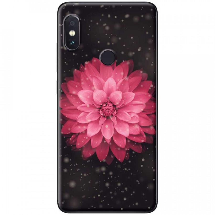 Ốp lưng dành cho Xiaomi Redmi Note 6 mẫu Hoa cúc đỏ đen