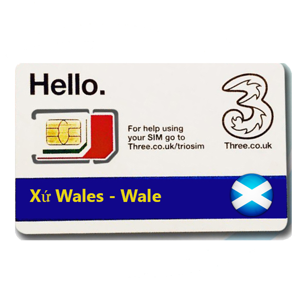 Sim du lịch Xứ Wales - Wales 4g tốc độ cao