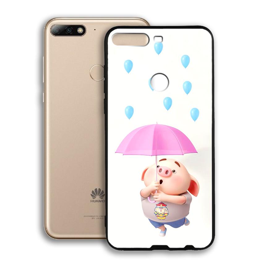 Ốp lưng viền TPU cho điện thoại Huawei Y7 Prime 2018 - 02088 0523 PIG26 - Hàng Chính Hãng