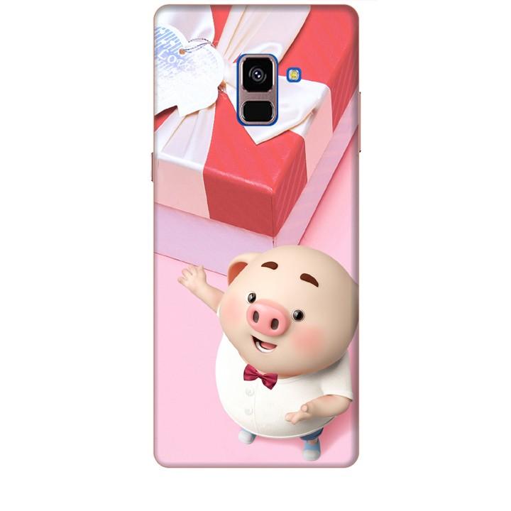 Ốp lưng dành cho điện thoại  SAMSUNG GALAXY A8 PLUS 2018 Heo Con Đòi Quà